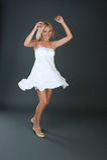 Beautiful girl spinning Stock Photos