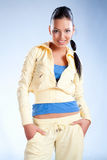 Beautiful  girl in sport wear Stock Photo