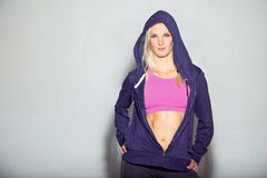 Beautiful Girl in Sportswear Stock Photo