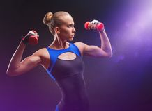 Athletic girl royalty free stock photos