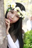 Beautiful girl in spring Stock Images