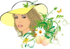 Beautiful Girl-spring Among Flowers Stock Photography