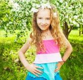 Beautiful girl at spring Royalty Free Stock Image