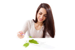 Beautiful girl, spring detox. Royalty Free Stock Photo