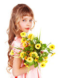 Beautiful girl with spring flower. Royalty Free Stock Photo