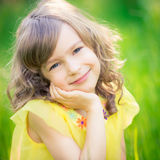 Beautiful girl in spring park Stock Photo