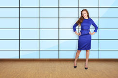 Beautiful girl standing in office Royalty Free Stock Photos