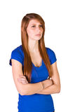 Beautiful Girl Standing Up Stock Image