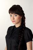 Beautiful girl with a stern look Stock Photos