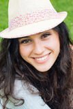 Beautiful girl with straw hat Royalty Free Stock Photo