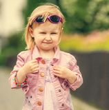 Beautiful girl in the street close up Royalty Free Stock Photo