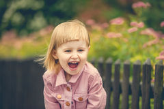 Beautiful girl in the street close up Royalty Free Stock Photography