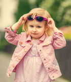 Beautiful girl in the street close up Royalty Free Stock Photos