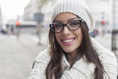 Beautiful girl on the street Stock Images