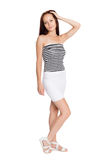 Beautiful girl in a striped tank top Royalty Free Stock Photography
