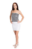 Beautiful girl in a striped tank top Royalty Free Stock Photos