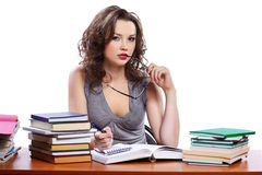 Beautiful girl student Royalty Free Stock Photo