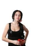 Beautiful girl studio Stock Photography