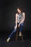 Beautiful girl studio portrait Stock Photography