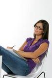 Beautiful girl studying Stock Images