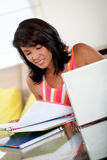 Beautiful girl studying Royalty Free Stock Photo