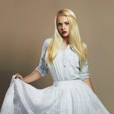 Beautiful girl. stylish young blond woman. wedding fashion Royalty Free Stock Photography