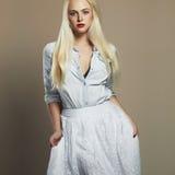 Beautiful girl. stylish young blond woman. wedding fashion Stock Photography