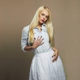 Beautiful girl. stylish young blond woman. wedding fashion Royalty Free Stock Image