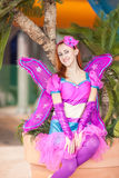 The beautiful girl in a suit of the fairy. Stock Photo