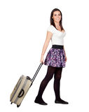 Beautiful girl with a suitcase Royalty Free Stock Image