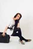 Beautiful girl with suitcase Stock Photos