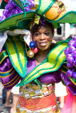 Beautiful girl summer carnaval. Beautiful girl in a summer carnaval street parade (Rotterdam, Netherlands, 2008 stock photo
