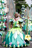 Beautiful girl in a summer carnaval parade Royalty Free Stock Photography