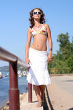 Beautiful girl in summer clothes Royalty Free Stock Images