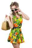 The beautiful girl in a summer dress Royalty Free Stock Photography