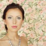 Beautiful girl with summer makeup Stock Photos