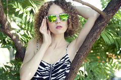 Beautiful girl in the summer Stock Image
