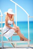 Beautiful girl on summer vacation trip Royalty Free Stock Photography
