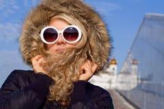 Beautiful girl in sun glasses Stock Images