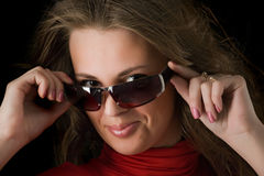 Beautiful girl in sun glasses Stock Photo