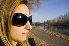Beautiful girl with sunglasses Stock Image