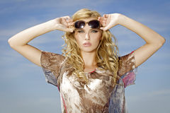 Beautiful girl in sunglasses Stock Image