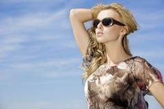 Beautiful girl in sunglasses Stock Photography