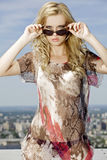 Beautiful girl in sunglasses Royalty Free Stock Photography