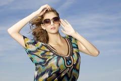 Beautiful girl in sunglasses Stock Images