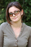 Beautiful girl with sunglasses Stock Images