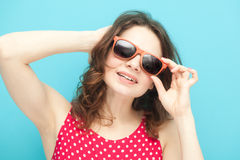 Beautiful girl in sunglasses Royalty Free Stock Photos