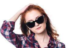 Beautiful girl in sunglasses. Stock Images