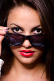 Beautiful girl with sunglasses Royalty Free Stock Photo