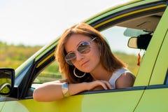 Beautiful girl in sunglasses posing Stock Image